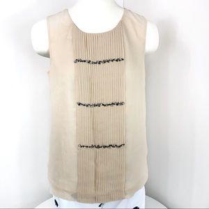 J Crew blouse sleeveless tan size 4